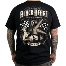 T-shirt BLACK HEART Melisa - črna