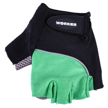 Cycling gloves, gym gloves WORKER S900 - zelena