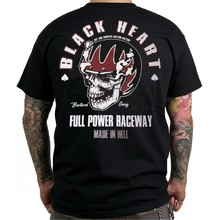 T-shirt BLACK HEART Full Power - črna