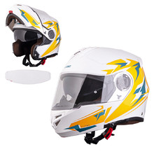 Moto čelada W-TEC Vexamo PI Graphic - White Graphic