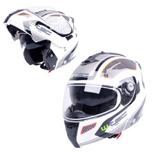 Moto čelada W-TEC NK-839 - S-Cape White Red