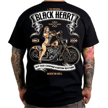 T-shirt BLACK HEART Carmen - črna
