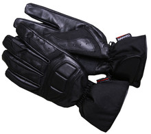 WORKER Fast motorcycle gloves - črna
