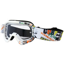 Junior motorcycles glasses W-TEC Benford with graphics - bela graf.