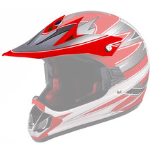 Replacement Visor for WORKER V310 Junior Helmet - rdeča
