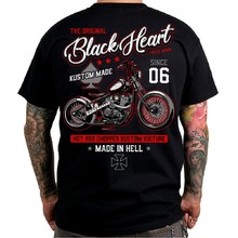 T-shirt BLACK HEART Red Chopper