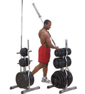 GOWT Body-Solid Olympic Weight Tree/Bar Rack