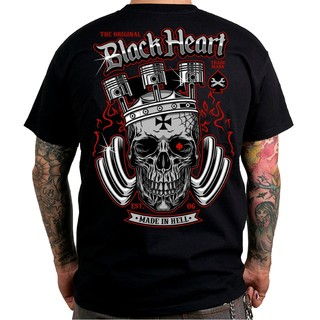 T-shirt BLACK HEART King Road - črna
