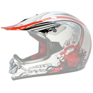 Replacement Visor for WORKER V310 Junior Helmet - bela-rdeča