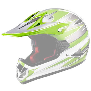 Replacement Visor for WORKER V310 Junior Helmet - zelena
