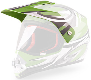 Replacement Visor for WORKER V340 Helmet - zelena-grafika